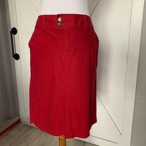 Redish Faux Jean skirt